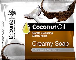 Düfte, Parfümerie und Kosmetik Kremowe mydło w kostce do rąk, ciała i twarzy z olejem kokosowym - Dr. Santé Creamy Soap