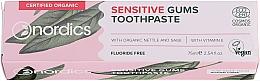 Düfte, Parfümerie und Kosmetik Zahnpasta mit Vitamin E für empfindliche Zähne - Nordics Sensitive Gums Toothpaste