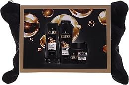 Düfte, Parfümerie und Kosmetik Haarpflegeset - Schwarzkopf Gliss Kur Ultimate Repair (Shampoo 250ml + Conditioner 200ml + 2in1 Haarmaske 300ml + Kosmetiktasche)