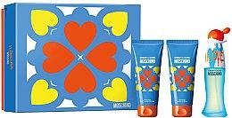 Düfte, Parfümerie und Kosmetik Moschino I Love Love - Duftset (Eau de Toilette/50ml + Körperlotion/100ml + Duschgel/100ml)