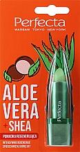 Düfte, Parfümerie und Kosmetik Regenerierender Lippenbalsam mit Aloe Vera und Sheabutter - Perfecta Aloe Vera + Shea Lip Balm