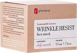 Düfte, Parfümerie und Kosmetik Anti-Aging-Gesichtsmaske - Phenome Wrinkle Resist Face Mask
