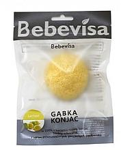Düfte, Parfümerie und Kosmetik Konjac-Schwamm für das Gesicht mit Zitrone - Bebevisa Konjac Sponge