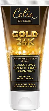Luxuriöse Hand- und Nagelcreme - Celia De Luxe Gold 24K Luxurious Hand & Nail Cream