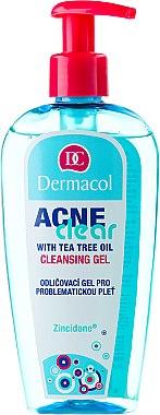 Antibakterielles Abschmink- und Reinigungsgel mit australischem Teebaumöl für problematische Haut - Dermacol Acne Clear Make-Up Removal & Cleansing Gel