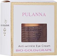 Düfte, Parfümerie und Kosmetik Anti-Falten-Augencreme mit Bio-Gold und Traubenextrakt - Pulanna Bio-gold & Grape Anti-wrinkle Eye Cream