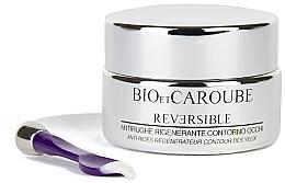 Düfte, Parfümerie und Kosmetik Regenerierende und feuchtigkeitsspendende Fluid-Creme gegen Falten für die Augenpartie - Bio et Caroube Reversible Anti-Wrinkle Regenerating Eye Contour