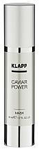 Düfte, Parfümerie und Kosmetik Feuchtigkeitsspendende Gesichtsmaske mit Kaviar-Extrakt - Klapp Caviar Power Mask
