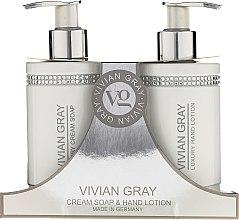 Düfte, Parfümerie und Kosmetik Handpflegeset - Vivian Gray White Crystals Set (Flüssige Cremeseife 250ml + Handlotion 250ml)