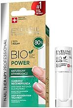 Düfte, Parfümerie und Kosmetik Tief regenerierende natürliche Nagelbehandlung - Eveline Cosmetics Nail Therapy Bio Power