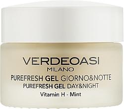 Düfte, Parfümerie und Kosmetik Tages- und Nachtgel für das Gesicht mit Vitamin H und Minze - Verdeoasi Purefresh Gel Day&Night