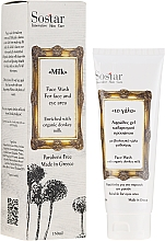 Düfte, Parfümerie und Kosmetik Gesichtswaschschaum mit Bio-Eselsmilch - Sostar Face Wash with Donkey Milk