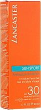Düfte, Parfümerie und Kosmetik Wasserdichtes Gesichtsgel SPF 30, matt - Lancaster Sun Sport Invisible Face Gel SPF30