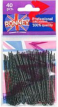 Düfte, Parfümerie und Kosmetik Haarnadeln schwarz 70 mm, 40 St. - Ronney Professinal Curly Hairpins