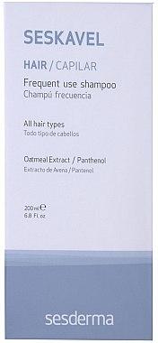 Shampoo für den täglichen Gebrauch für alle Haartypen - SesDerma Laboratories Seskavel Frequent Use Shampoo — Bild N1