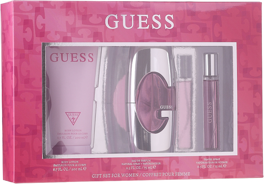 Guess Guess for Women - Duftset (Eau de Parfum 75ml + Körperlotion 200ml + Eau de Parfum 15ml)