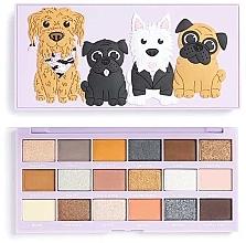 Düfte, Parfümerie und Kosmetik Lidschatten-Palette 18 Farben - I Heart Revolution Revo-Pooches Eyeshadow Palette