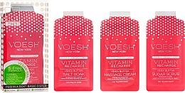Düfte, Parfümerie und Kosmetik Pediküre-Set mit rosa Grapefruit - Voesh Pedi In A Box 3 In 1 Deluxe Pedicure Vitamin Recharge Pink Grapefruit (35 g)