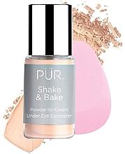 Düfte, Parfümerie und Kosmetik Augen-Concealer - Pur Shake & Bake Powder-to-Cream Under Eye Concealer