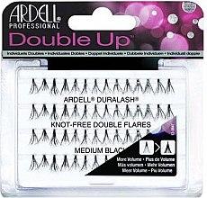 Düfte, Parfümerie und Kosmetik Wimpernbüschel-Set - Ardell Double Up Duralash Knot-Free Double Flares Medium Black