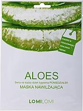 Düfte, Parfümerie und Kosmetik Feuchtigkeitsspendende Tuchmaske für das Gesicht mit Aloe Vera - LomiLomi Mask Aloe