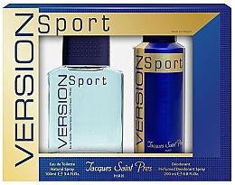 Düfte, Parfümerie und Kosmetik Ulric de Varens Jacques Saint Pres Version Sport - Duftset (Eau de Toilette 100ml + Deospray 200ml)