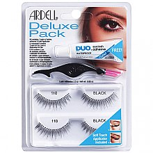 Düfte, Parfümerie und Kosmetik Set Künstliche Wimpern und Wimpernkleber - Ardell Deluxe Pack 110 Black