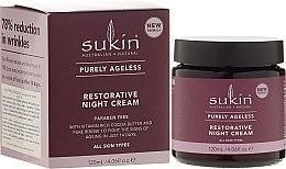 Düfte, Parfümerie und Kosmetik Anti-Falten Nachtcreme - Sukin Purely Ageless Night Cream