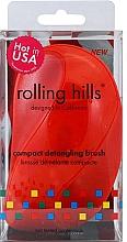 Düfte, Parfümerie und Kosmetik Kompakte Haarbürste rot - Rolling Hills Compact Detangling Brush Red