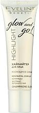 Düfte, Parfümerie und Kosmetik Flüssiger Highlighter mit Matcha Tee und Ceramiden - Eveline Cosmetics Highlight Glow And Go