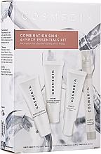 Düfte, Parfümerie und Kosmetik Gesichtspflegeset für gemischte Haut - Cosmedix Combination Skin 4-Piece Essentials Kit (Exfolierdes Gesichtsreinigungsmittel 15ml + Gesichtsserum 15ml + Gesichtscreme 15ml + Gesichtsnebel 15ml)
