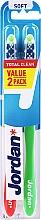 Düfte, Parfümerie und Kosmetik Zahnbürste weich Total Clean rot, grün 2 St. - Jordan Total Clean Soft