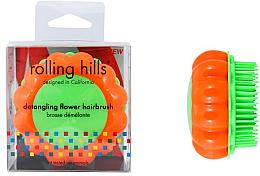 Düfte, Parfümerie und Kosmetik Kompakte Haarbürste Kamille orange-grün - Rolling Hills Brosse Demelante Flower