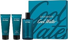 Düfte, Parfümerie und Kosmetik Davidoff Cool Water - Duftset (Eau de Toilette 125ml + Duschgel 75ml + After Shave Balsam 75ml)