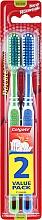 Düfte, Parfümerie und Kosmetik Zahnbürste mittel Double Action blau, grün 2 St. - Colgate Double Action Medium Toothbrushes