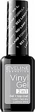 Düfte, Parfümerie und Kosmetik Gel Nagellack - Eveline Cosmetics Vinyl Gel 2In1 Gel+Top Coat