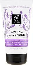 Düfte, Parfümerie und Kosmetik Feuchtigkeitsspendende und beruhigende Körpercreme für empfindliche Haut mit Lavendelextrakt - Apivita Caring Lavender Hydrating Soothing Body Lotion