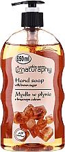 Düfte, Parfümerie und Kosmetik Flüssige Handseife mit braunem Zucker - Bluxcosmetics Naturaphy Hand Soap With Brown Sugar