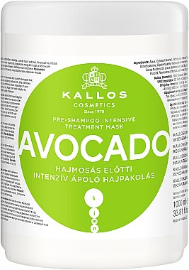 Regenerierende und pflegende Haarmaske mit Avocadoöl - Kallos Cosmetics KJMN Avocado Hair Mask