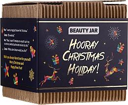 Düfte, Parfümerie und Kosmetik Körperpflegeset - Beauty Jar Hooray Christmas Holiday (Körperpeeling 130g + Handseife 90g)