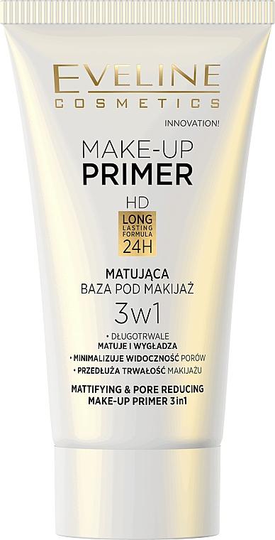 Mattierender Make-up Primer - Eveline Cosmetics Make-up Primer 3v1