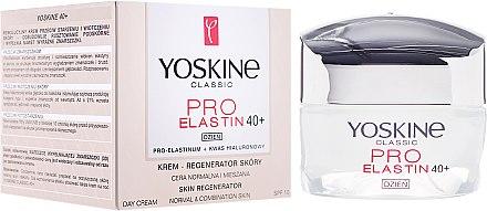 Gesichtsreme für normale und Mischhaut 40+ - Yoskine Classic Pro-Elastin Day Cream 40+