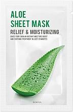Düfte, Parfümerie und Kosmetik Feuchtigkeitsspendende und beruhigende Tuchmaske für das Gesicht mit Aloe Vera  - Eunyul Aloe Sheet Mask