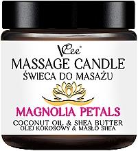 Düfte, Parfümerie und Kosmetik Massagekerze Magnolia Petals - VCee Massage Candle Magnolia Petals Coconut Oil & Shea Butter