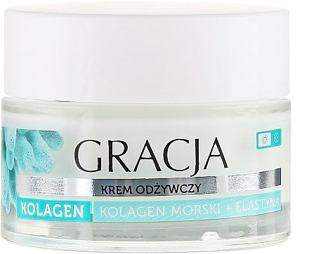 Anti-Falten-Pflegecreme mit Meereskollagen und Elastin - Miraculum Gracja Sea Collagen And Elastin Anti-Wrinkle Day/Night Cream