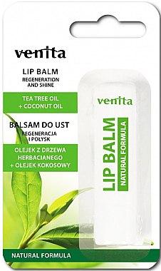 Lippenbalsam mit Teebaumöl und Kokosnuss - Venita Lip Balm Tea Tree Oil + Coconut Oil