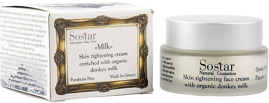 Straffende Gesichtscreme mit Bio Eselsmilch - Sostar Skin Tightening Face Cream Enriched With Donkey Milk