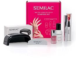 Düfte, Parfümerie und Kosmetik Nagelset - Semilac Starter Set One Step (UV/LED Lampe + Nagelmarker 3ml + Nagellackentferner 50ml + Nagelöl 7ml + Nagelfeie 1St.)