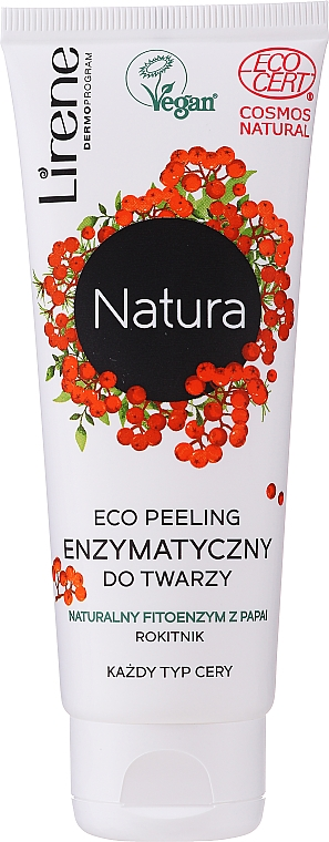 Gesichtspeeling mit Sanddorn-Extrakt - Lirene Natura Eco Peeling