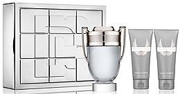 Düfte, Parfümerie und Kosmetik Paco Rabanne Invictus - Duftset (Eau de Toilette 100ml + After Shave Balsam 100ml + Duschgel 100ml)
